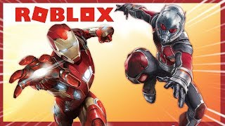 ROBLOX INDONESiA | When iRON MAN FIGHTS ANT-MAN 😂