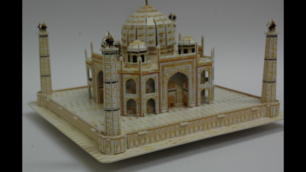 3d Modeling Building Taj Mahal Model 3d Puzzle Youtube