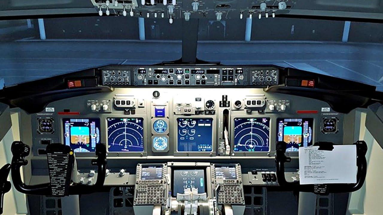 Boeing 737 Full Flight Sim   Flight Heathrow-Amsterdam   Cockpit View &  Comms   Takeoff to Landing!