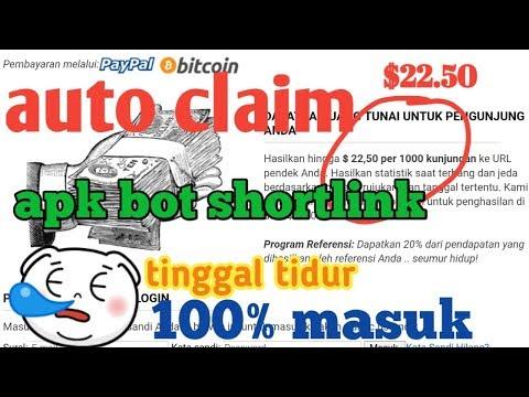 Auto Claim Bot Shortlink | Cara Hasilkan Uang Dari Shortlink