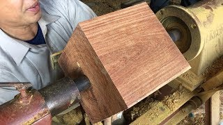 Woodworking Skills Of Carpenters Extremely High // Technical Work With Lathes Fastest And Easiest