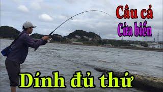 Ra cửa biển câu cá giật mỏi cả tay| dính đủ thứ || NDK Vlogs