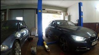 Замена задних колодок BMW F30 320i