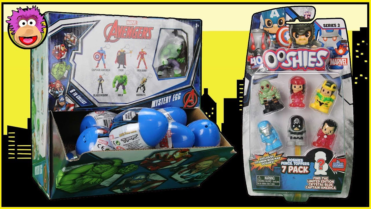 Box Of Marvel Avengers Mystery Bags Amp Marvel Ooshies