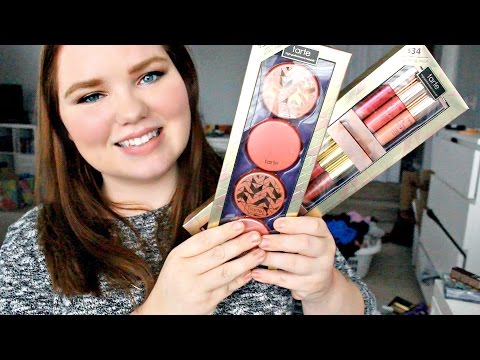 Tarte At First Blush and Dressed to the Nines Collection Reviews + Swatches | Holiday 2015