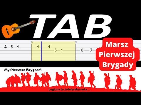 🎸 Pierwsza brygada (Marsz pierwszej brygady) - melodia TAB 🎸 (gitara)