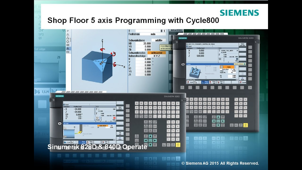 siemens shop floor 5 axis programming with cycle800 in sinumerik operate 840d sl 828d sl youtube. Black Bedroom Furniture Sets. Home Design Ideas
