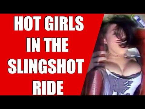 Wn Girls Boobs Falls Out Of Sling Shot Ride