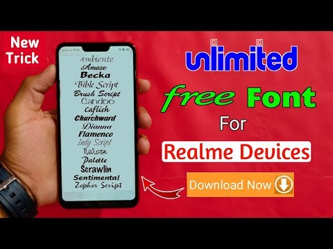 Unlimited Free Fonts For All Realme Devices (Apply Now) 1000+ Free Fonts Realme & OPPO