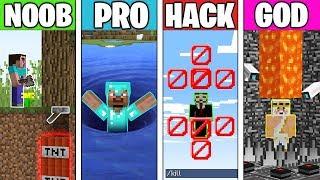 Minecraft Battle: HIDDEN TRAP CHALLENGE! NOOB vs PRO vs HACKER vs GOD in Minecraft Animation