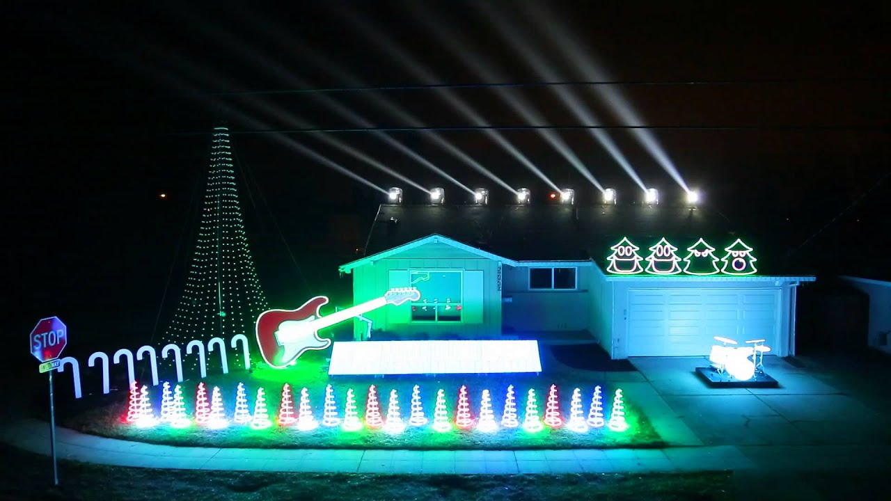 Christmas Light Show 2014 - Can Can Featured on Great Christmas ...