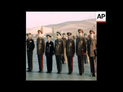 SYND 17 11 77 DEP. DEFENCE MIN. OF USSR GEN SOKOLOF VISIT IN AMMAN