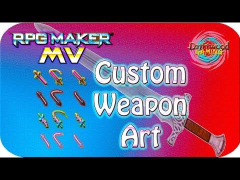 Custom Weapon Art - RPG Maker MV Tutorial - Photoshop Tutorial - YEP_WeaponAnimation Tutorial - RMMV