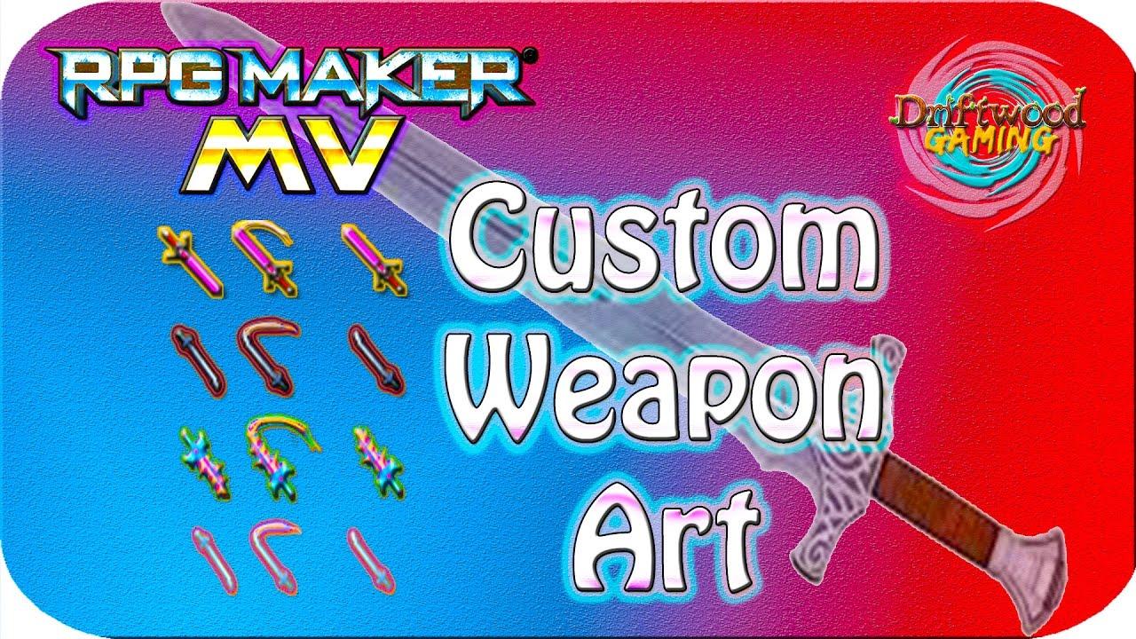 Custom Weapon Art - RPG Maker MV Tutorial - Photoshop