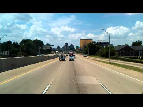 Shreveport, Louisiana as we roll West on Interstate 20