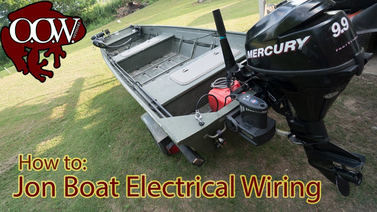 jon boat electrical wiring 4k uhd oow outdoors youtube rh youtube com wiring diagram jon boat wiring my jon boat