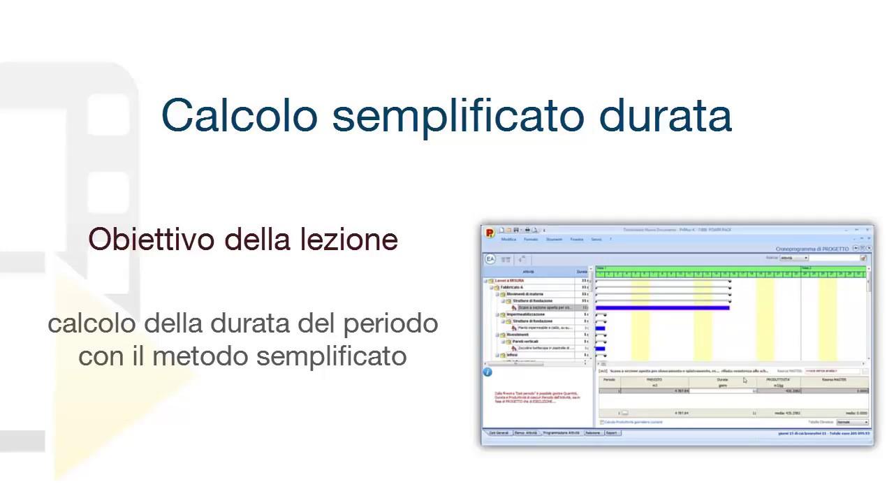 tutorial primus k calcolo semplificato durata acca software [ 1280 x 720 Pixel ]