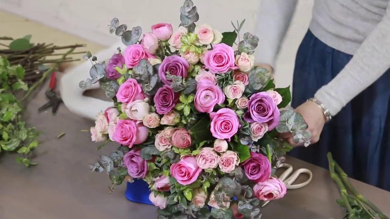 Букет из 23 роз мастер класс, цветов нелидово тверская