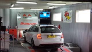 Skoda Octavia RS 2.0TFSI 162kw to 201kW Chiptuning on Dyno A&A Automobiltechnik - Leistungsmessung
