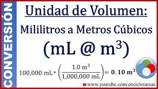 Convertir De Mililitros A Metros Cúbicos Ml A M Youtube
