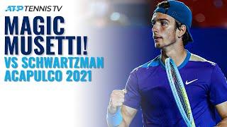 Magic lorenzo musetti shots in first top-10 win vs schwartzman! | acapulco 2021