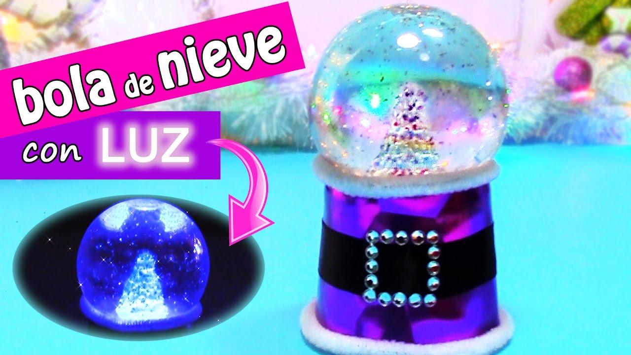 Manualidades navidad bola o globo de nieve con luz innova manualidades youtube - Oglo o ...