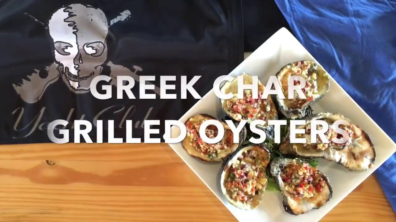 How We Make Our Greek Char Grilled Oysters