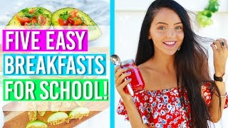 5 Easy and Quick Breakfast / Snack Ideas for School 2016! DIY Back to School Food Ideas!