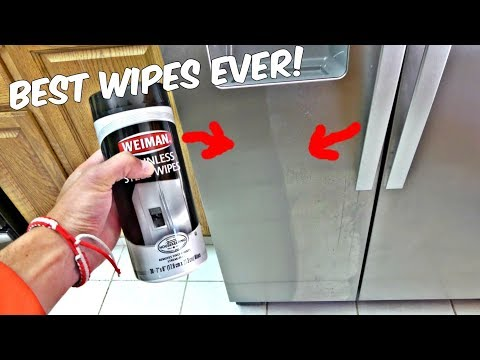 HOW TO CLEAN STAINLESS STEEL REFRIGERATOR FRIDGE STOVE MICROWAVE OVEN