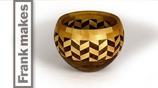Segmented Wood Turned Wedding Bowl