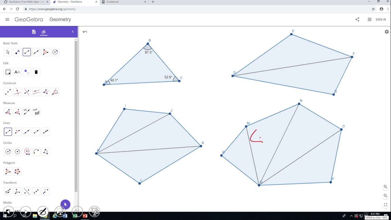 Introduction to Polygons and The Sum of Interior Angles