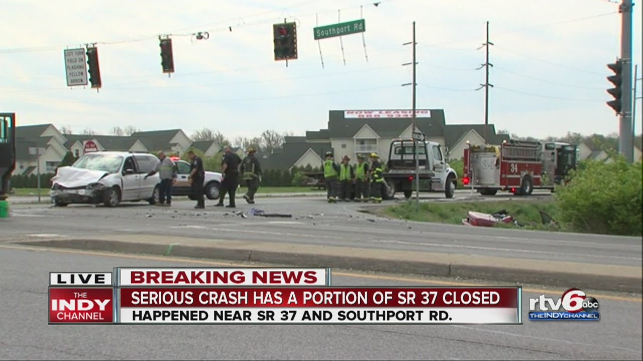 Deadly crash closes SR 37 near Southport Road in Marion County