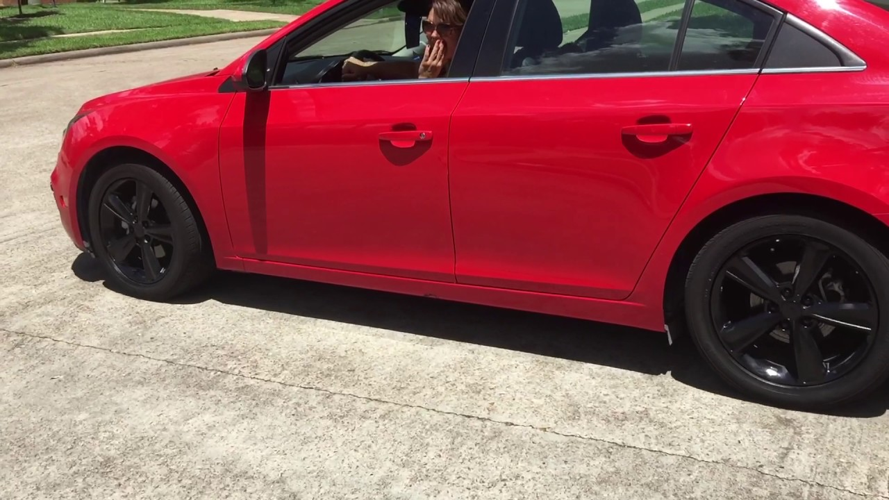 Red Chevy Cruze Black Rims And Bow Ties Youtube