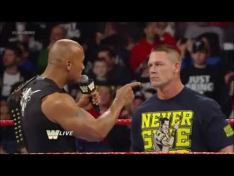 WWE: The Rock and John Cena Segment, Raw Old School, 4th ...