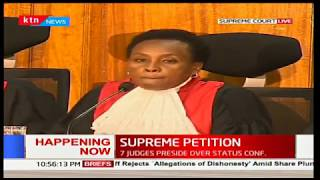 Supreme Court : The Pre - trial conference of the presidential petition 1