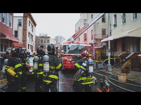 FDNY - Brooklyn All Hands Box 742 - Lawton Street Fire in Bushwick, Brooklyn