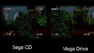 Pitfall: The Mayan Adventure - MD Side by Side (vs. Sega CD & 32X)