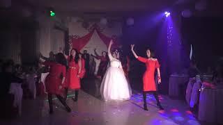 Танец подружек невесты. Свадьба зимой. Свадьба Арсена и Екатерины в Кызыле
