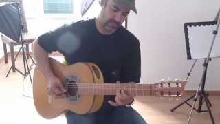 My friend Dr. Joe Reyes playing (pick techniques) on his new AG guitar / CFG Spain