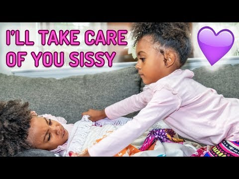 TWINS TAKE CARE OF EACH OTHER WHEN THEY'RE SICK