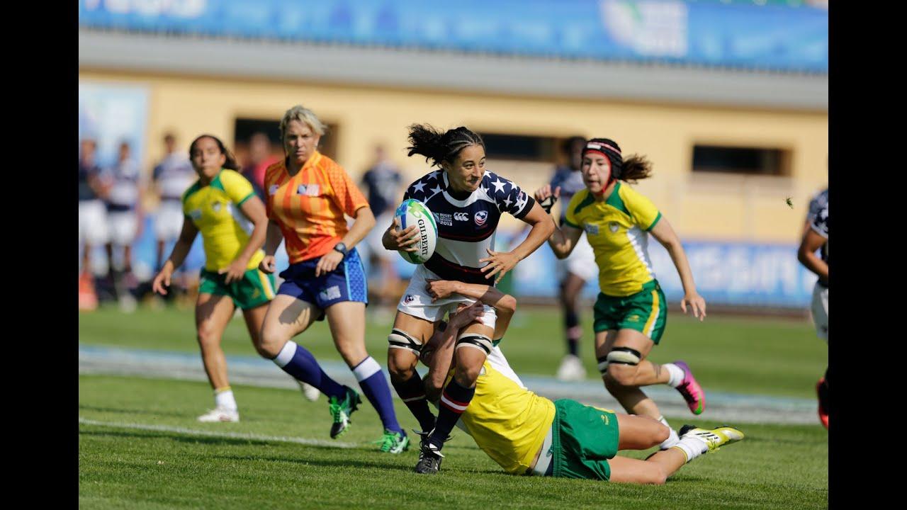 RWC 2013 - USA Women's Eagle Sevens vs. Brazil - YouTube