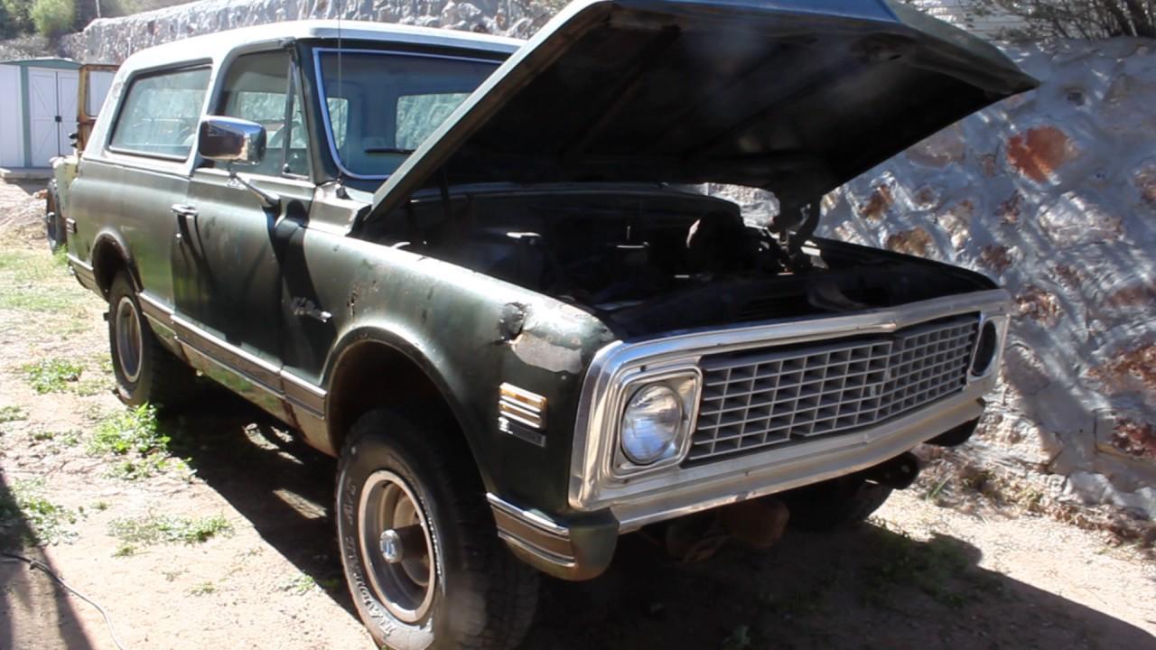 Blazer 1972 chevy k5 blazer : 1972 Chevrolet K5 Blazer Engine Test - YouTube