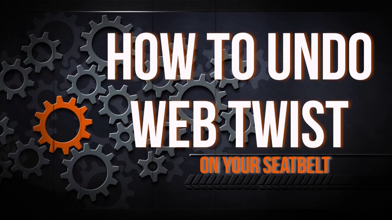 How To Fix An Alr Web Twist In Your Seat Belt Youtube