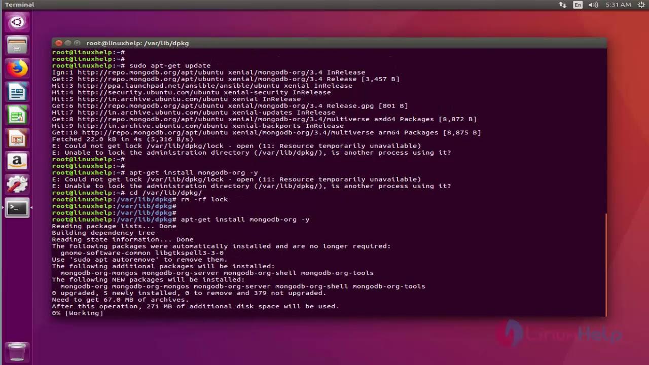 install mongodb ubuntu 17.04