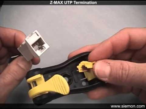 Монтаж розетки Z-MAX UTP