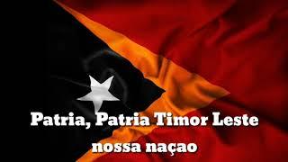 Lirik, Lagu kebangsaan Timor Leste Patria Patria...