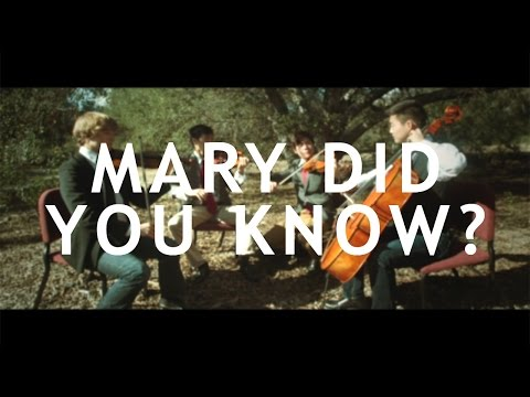 Mary Did You Know? - String Quartet PTX Cover