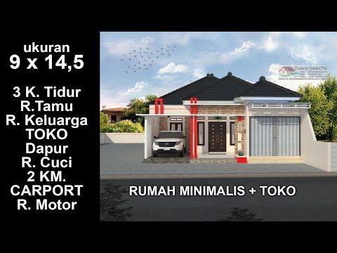 Modern House 9x 14 5 3 K Tidur Desain Rumah Minimalis Lantai 1