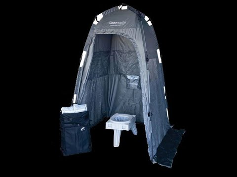Best Camping Bathroom / Shower Tent? Clean Waste Camping Shelter