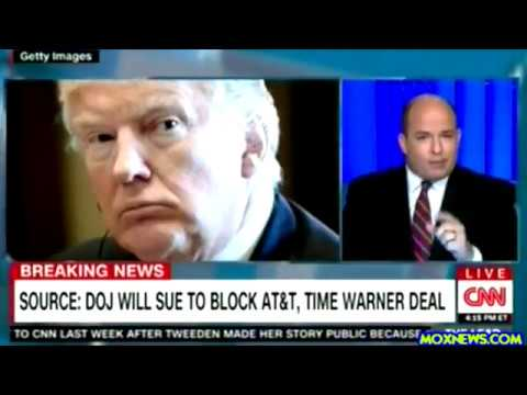 CNN Blames President Trump For DOJ Stopping AT&T Time Warner Merger!